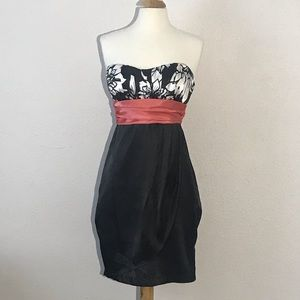 Charlotte Russe Juniors Dress 5 Black Salmon Peach